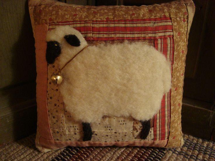 Antique Quilt Sheep Pillow