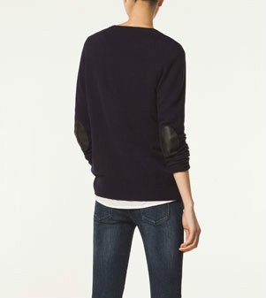 Massimo Dutti Cardigan with leather elbow patches, selling at sheisawoman @eBay.com.au