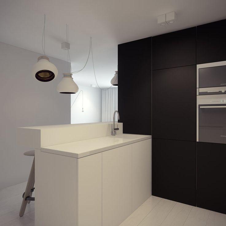 Kitchen design in Katowice POLAND - archi group. Kuchnia w mieszkaniu w Katowicach.