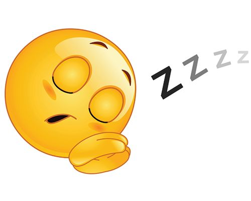 Send them a Sleeping Smiley before you nod off!