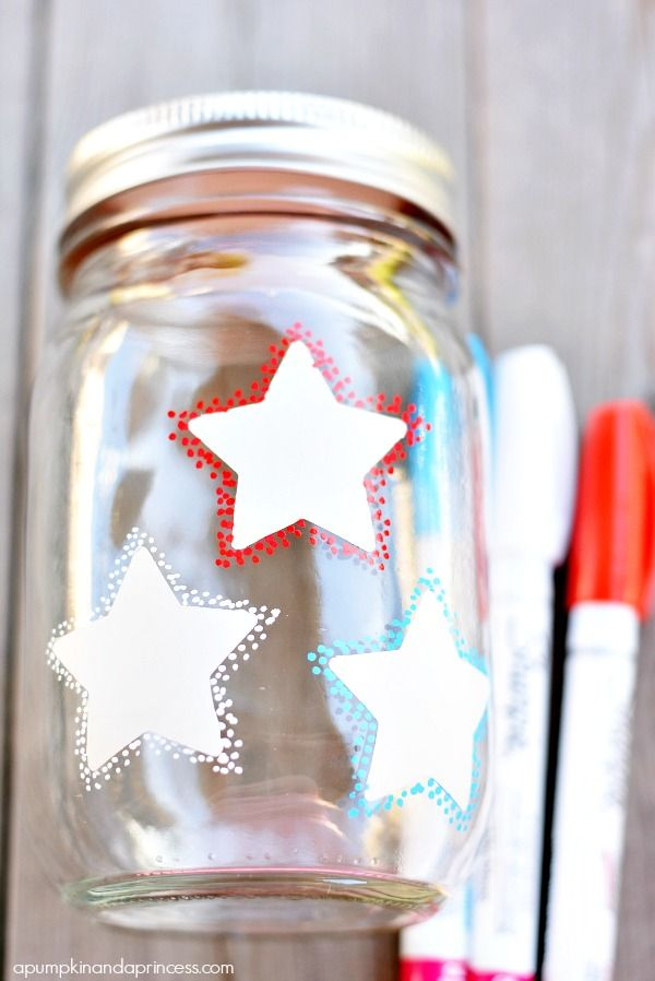 Confetti Star Mason Jar Lanterns - A Pumpkin And A Princess