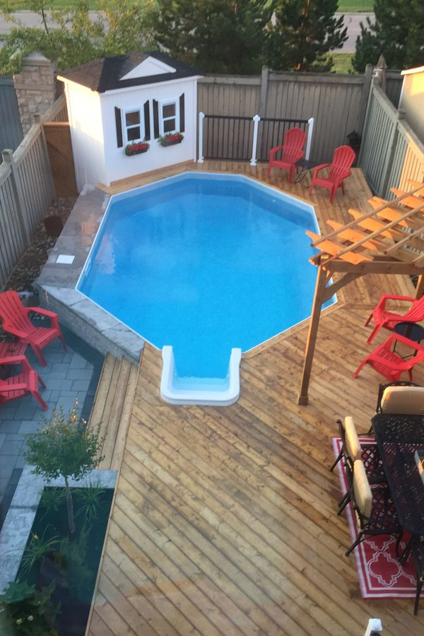 Emerald II Onground Pool With Crystal Liner Pattern. Check Out The Entire  Pool Showcase Here