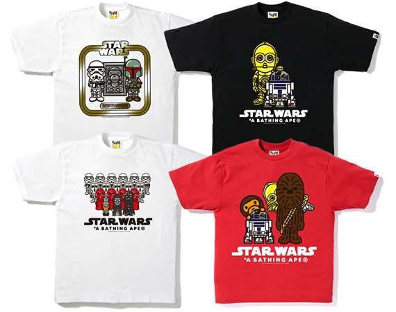 A BATHING APE X STAR WARS-the A Bathing Ape x Star Wars t-shirt collection largely focuses on The Empire Strikes Back film from the sci-fi series.