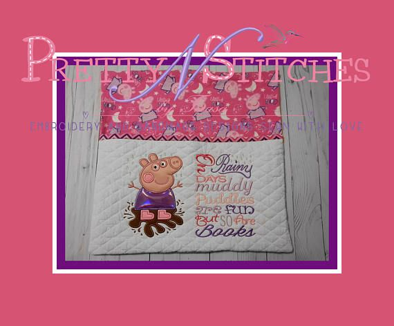 Digital Mud Puddle Applique Embroidery design includes 5X7 of