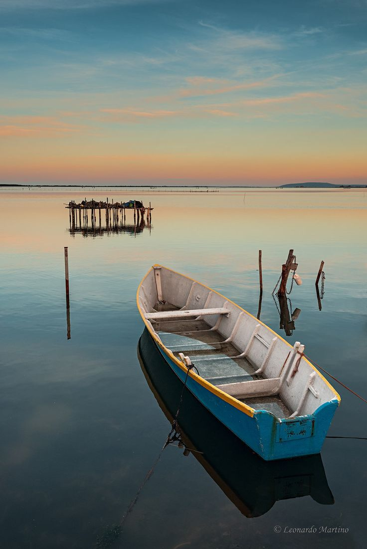 Tramonto Lago di Lesina by Leonardo Martino on 500px