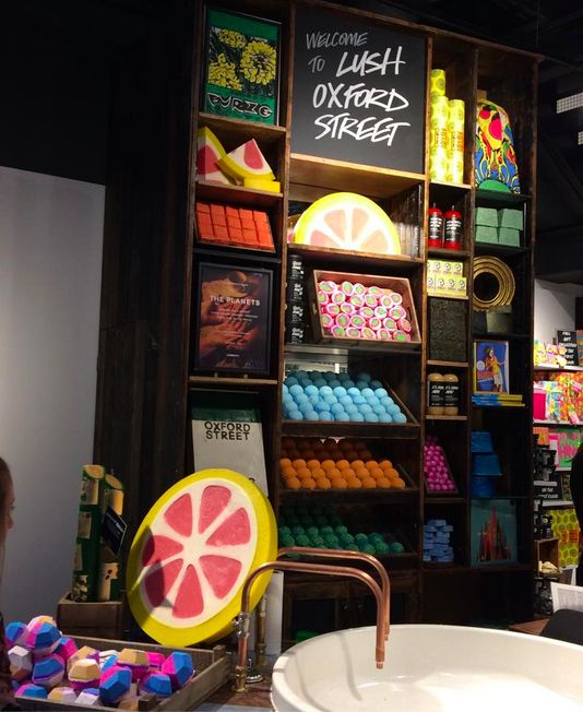 LUSH Cosmetics London Oxford Street Exclusives