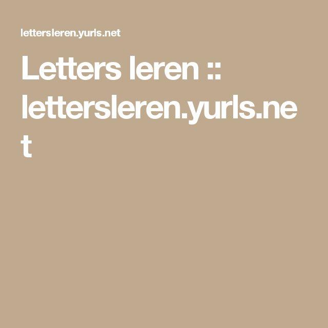 Letters leren :: lettersleren.yurls.net