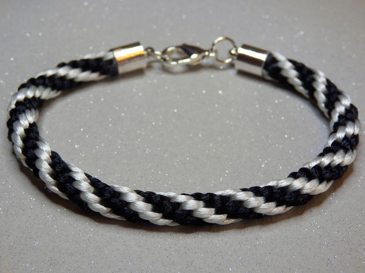 Satin Corded Bracelet, Braided Surfer Wristband, Friendship Men Women Teens