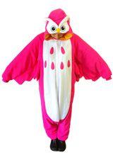 Kigurumi Shop   Magenta Owl Kigurumi - Animal Costumes & Pajamas by Sazac