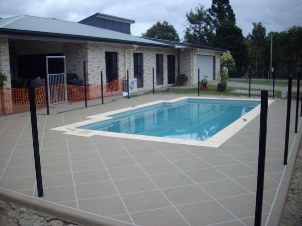 stencil concrete around pool - Google Search