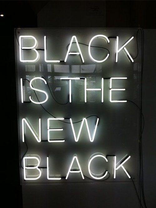 #veronikamaine #black #inspiration #summer13 #blackisthenewblack #neon #sign