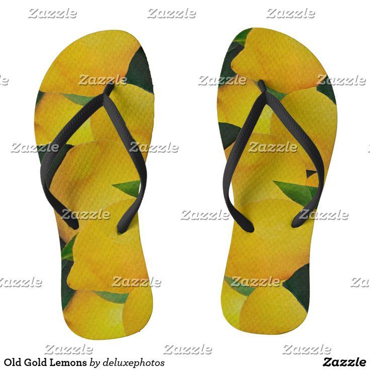 Old Gold Lemons Flip Flops