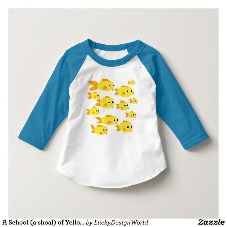 黄色い金魚の学校(群れ)