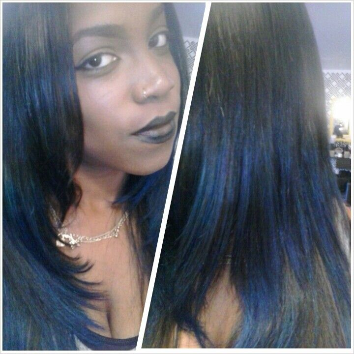 Jet Black Hair With Blue Highlights Hairs Picture Gallery