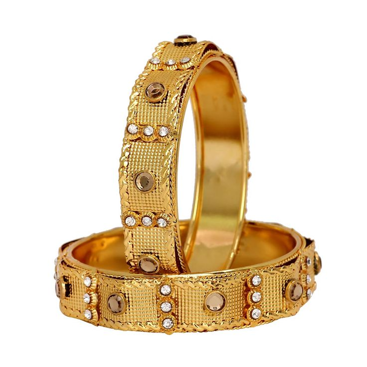Gold Plated Dazzling Gold Rhinestone Size: 2.6 Bangle Set of 2 Jewellery, bangles online shopping, gold plated bangles, fancy bangles online, gold chain bracelet, fancy bangles online shopping, buy cheap bangles online, design of bangles, buy bangles online, indian bangles online, gold bangles designs with price, diamond bangles design, gold bangles latest designs, charm bracelets for women, online shopping bangles, bangles for women, ladies silver bracelets, artificial bangles, bangles set…