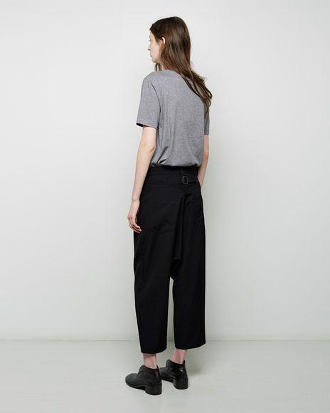 Y's   Cropped Wool Pant   La Garçonne