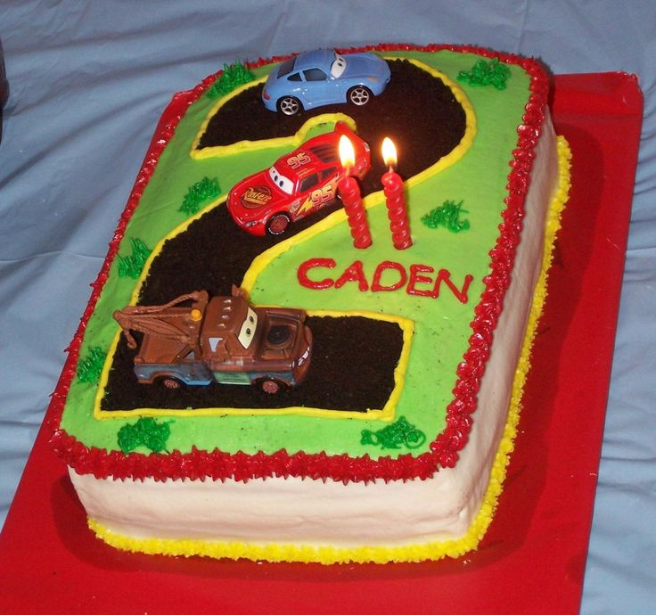 Mcqueen Cars Cake Design : Lightning McQueen 2nd Birthday Cake - All buttercream with ...