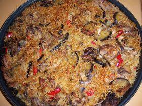 Las Recetas Murcianas de la Noe: Conejo con Fideos al horno
