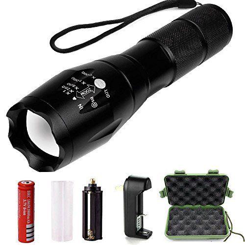Vanzon Torche Lampe de Poche LED Zoomable et Rechargeable avec 5 Modes, Ultra Puissante 900LM Camping Militaire Lampe…