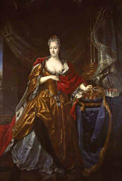 Christiane Eberhardine of Brandenburg-Bayreuth (19 December 1671 – 4 September 1727) was Electress of Saxony from 1694 to 1727 and titular Queen of the Polish–Lithuanian Commonwealth from 1697 to 1727 as wife to August II Not once throughout the whole of her thirty-year queenship did she set foot in Poland, instead living in Saxony in self-imposed exile for her refusal to convert to Catholicism and her loyalty to the Protestant faith.