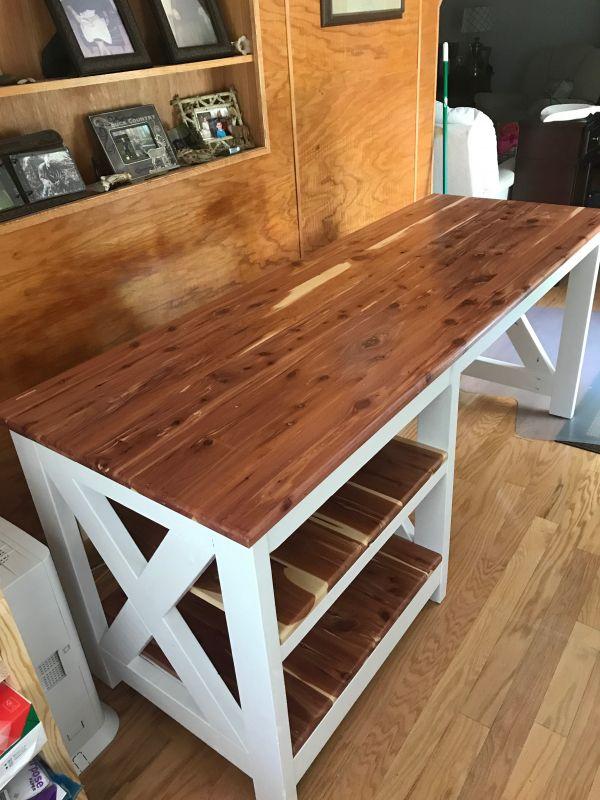 Farmhouse X Office Desk Free Plans Handmade Haven Woodworking Furniture Table Diy Desk Plans Desk Furniture Plans