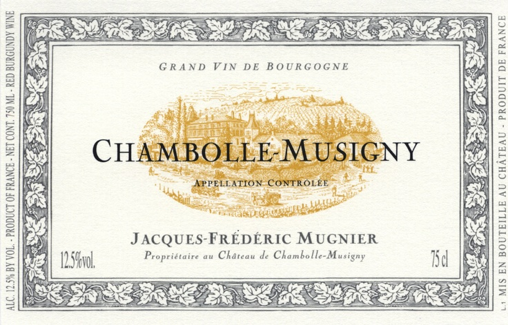 Jacques-Frederic Mugnier - Chambolle Musigny 2009