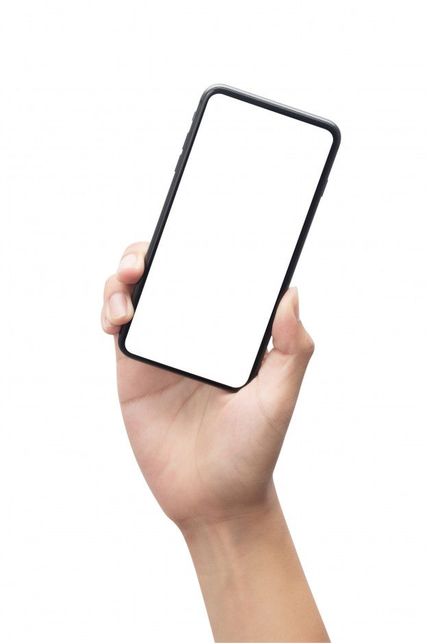 Male Hand Holding The Black Smartphone With Blank Screen Isolated On White Background With Clipping Path Hand Holding Phone Male Hands Smartphone Technology