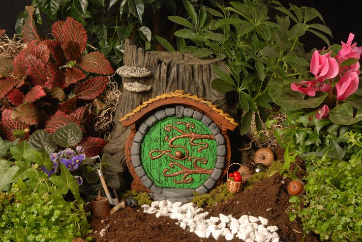 Groene Hobbit/Fairy deur