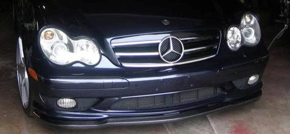 Carlsson Style Carbon Fiber Front Lip for W203 C32