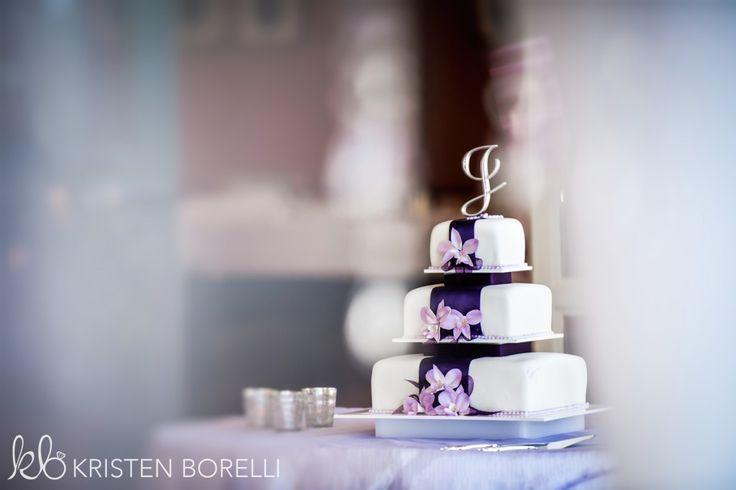 Esquimalt Chief & Petty Officers Mess Wedding. White and Purple Cake.