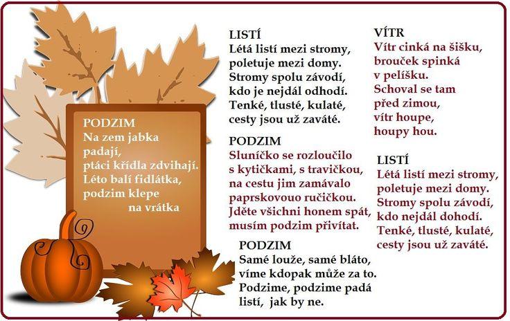 podzimní básničky, básničky o podzimu