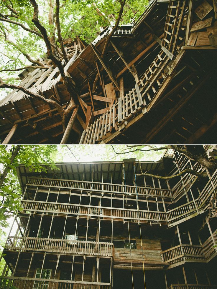 the ministers treehouse in crossville tennessee is a 100ft structure built by minister horace burgess