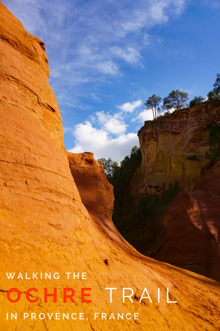 Walking the Ochre Trail in Provence, France is an amazing experience. Breathtaking scenery and a family friendly walk through an old ochre quarry in Roussillon, France. Find out how to get there, where to park, and when to visit!