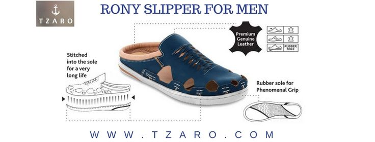 Genuine Leather Slipper for Men. Tzaro has just dropped its premium collection sandals on the website. Learn more...  #leathershoes #mensstyle #mensfootwear