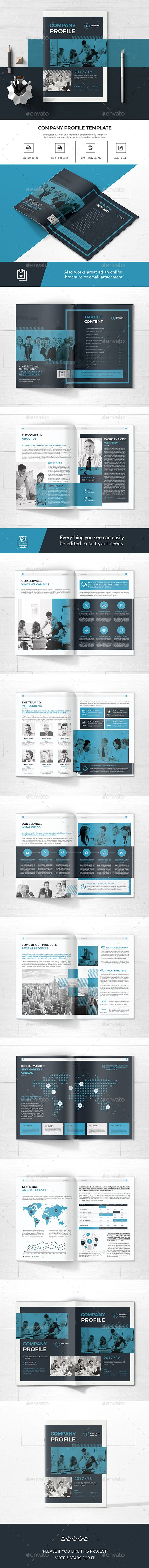 Company Profile — Photoshop PSD #horizontal #corporate • Available here ➝ https://graphicriver.net/item/company-profile/20692590?ref=pxcr