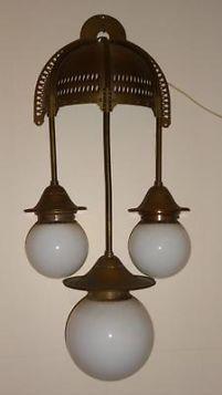 Amsterdamse school wandlamp, drielichts