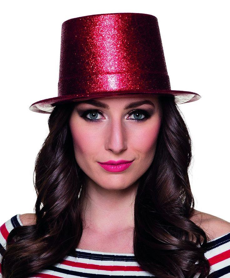 Koop deze rode glitter hoed op de website!