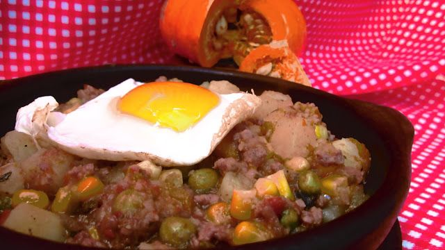 . CHILEAN KITCHEN: WITH FRIED EGGS charquicán