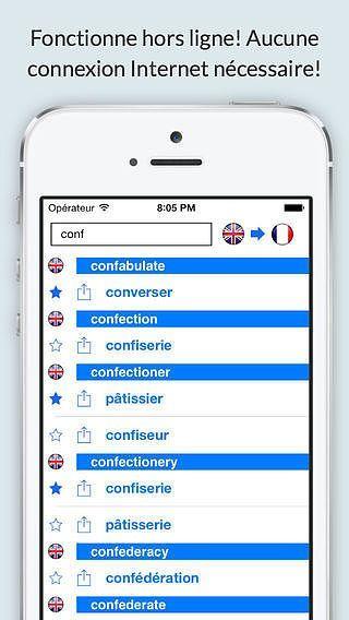 Dictionnaire Anglais Français hors ligne GRATUIT (Offline Englis pour mac