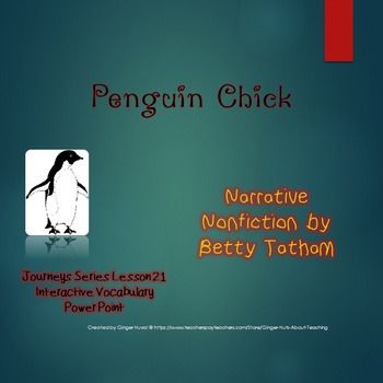 Penguin Chick Interactive Vocabulary Power Point (Journeys Reading Series)