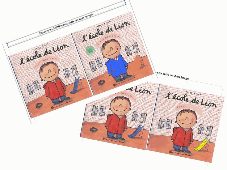 L'école de Léon: jeu des différences
