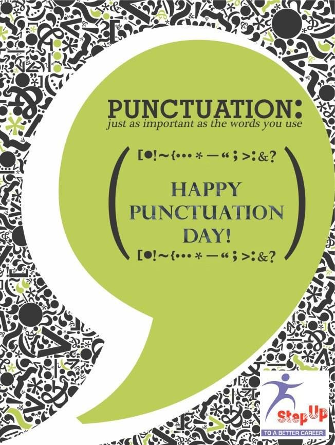"We wish You all a ""Happy Punctuation Day"""