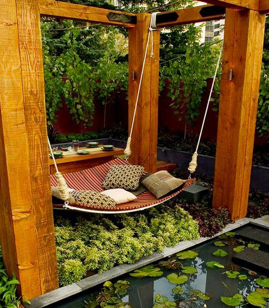 A serene garden bed.