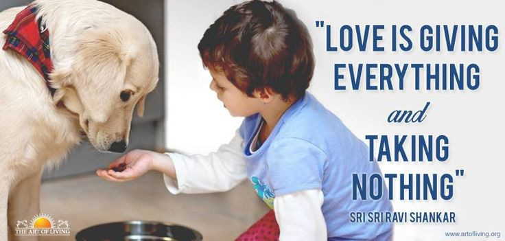 """Love is giving everything and taking nothing"" - Sri Sri Ravi Shankar"