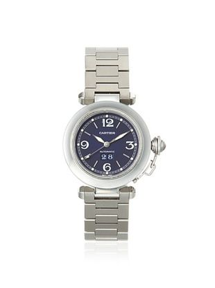 Cartier Men's Pasha 2475 Silver/Blue Stainless Steel Watch