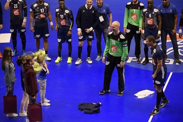 Après la victoire sur la Norvège (28-24), samedi à Clermont, Thierry Omeyer et Daniel Narcisse ont souligné l'importance du résultat plutôt que ce moment particulier pour eux, désormais retraités de l'équipe de France..