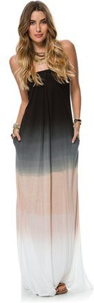 CLAIRE STRAPLESS MAXI DRESS