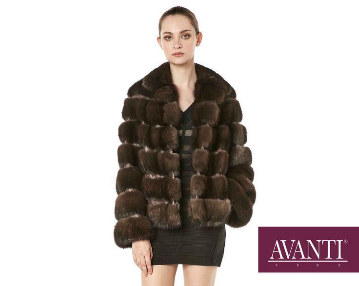 AVANTI FURS - MODEL: JESY-M SABLE JACKET with Leather Python details #avantifurs #fur #fashion #fox #luxury #musthave #мех #шуба #стиль #норка #зима #красота #мода #topfurexperts