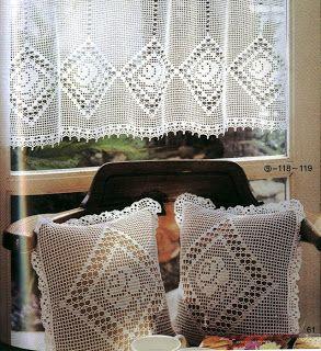 Häkeln & Filethäkeln Gardine / crochet curtain - Cortinas de croche