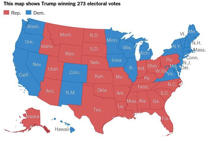 Electoral college map cspan